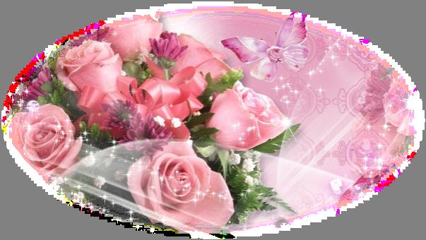 Цветы с блёстками